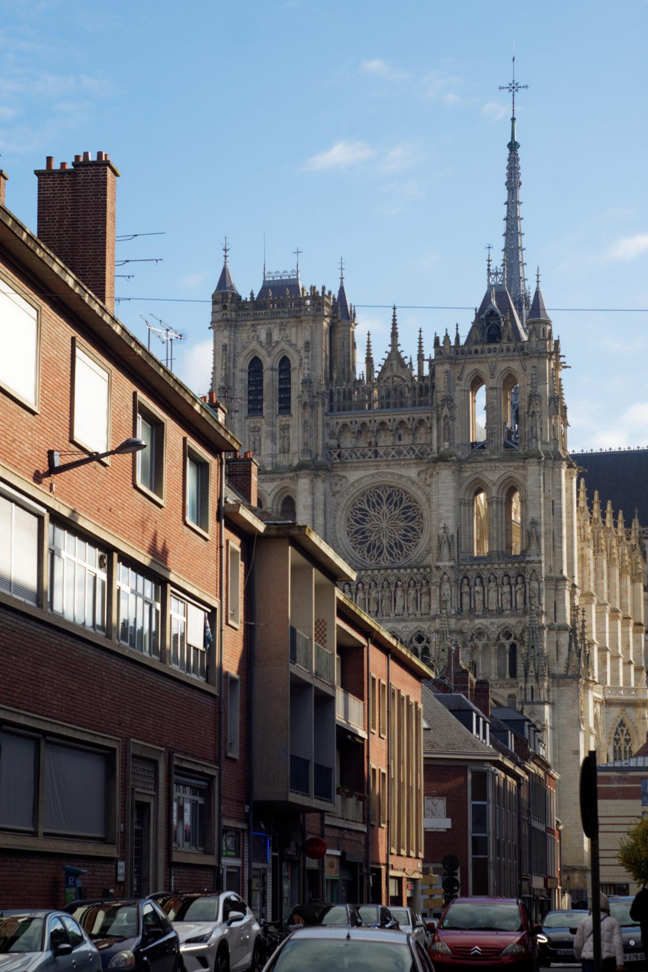 Vue sur la Cathédrale d'Amiens